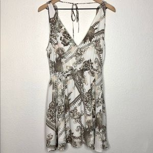 Leith floral tie back sleeveless ruffle dr…